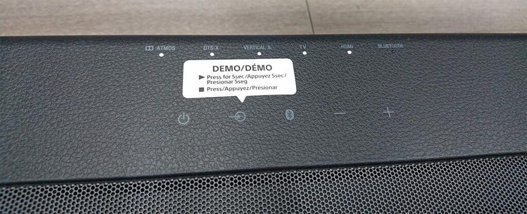 Sony HT-X8500: Botones